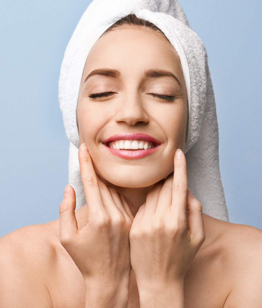 Refreshed woman with great skin