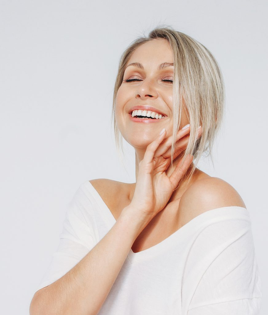 Happy middle-age woman with good skin