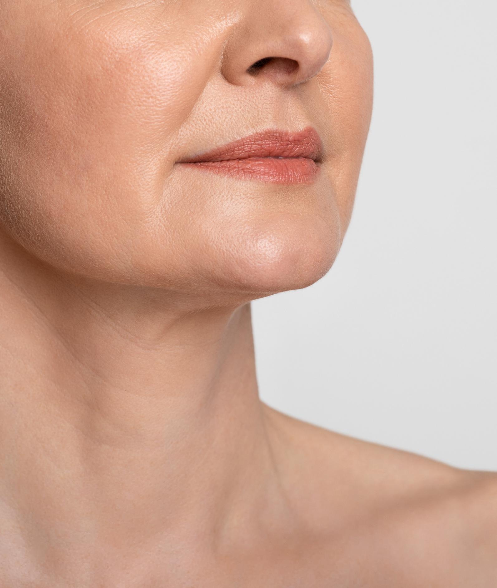 Womans neck area