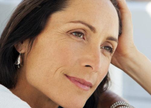 Woman suffering through migraines